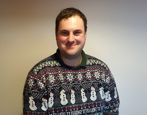 James in Christmas Jumper